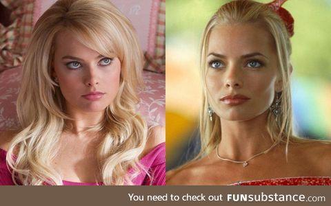 Margot Robbie and Jaime Pressly look like long lost sisters