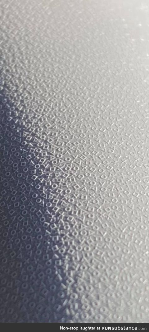 The texture of the PS5 controller close up