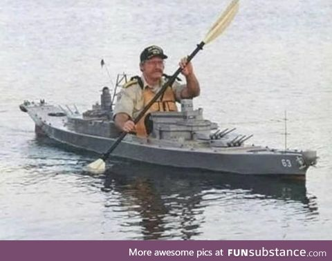Admit it, you now want a battle ship kayak!
