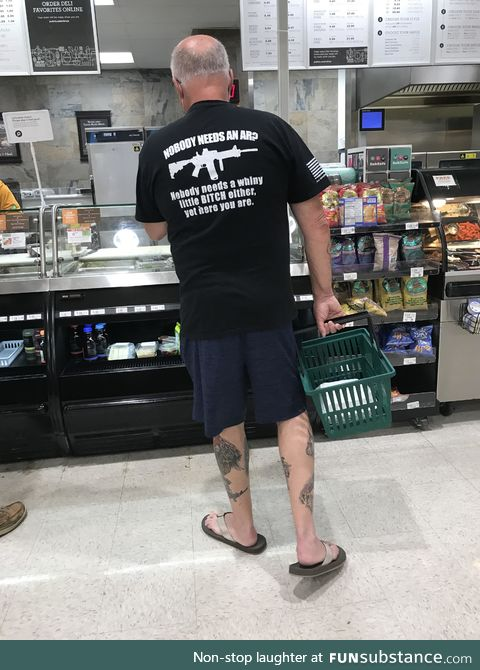 Ok grandpa, just cool your t*ts. Found in the wild in (of course) Florida