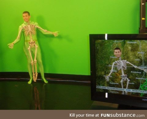 This brilliant costume of a weatherman