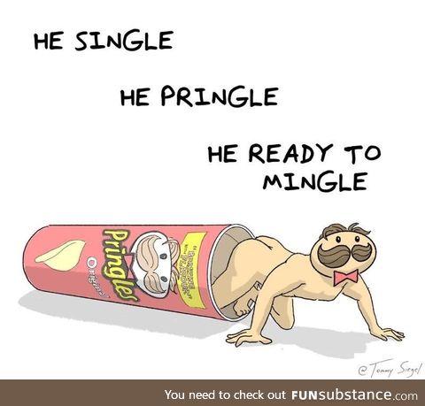 He ready to mingle