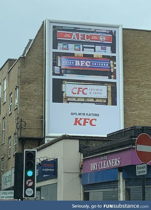 Haha, good advertising KFC