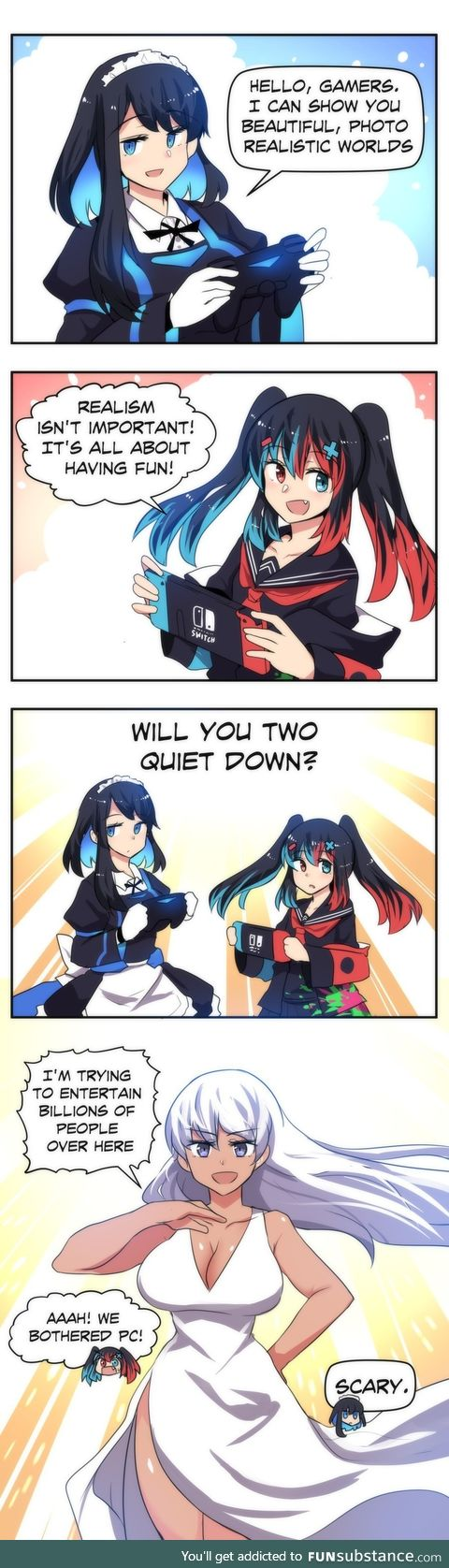 Switch-Chan & Playstation-Chan meet a scary challenger