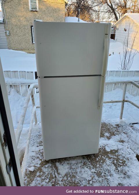 So, this is my fridge.