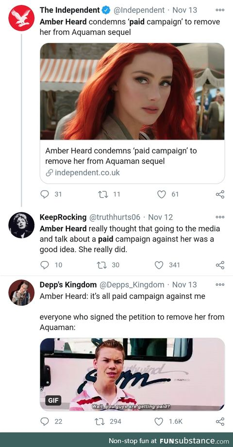 Amber Heard Campaign is nothing but 1.5 million paid robots from Russia