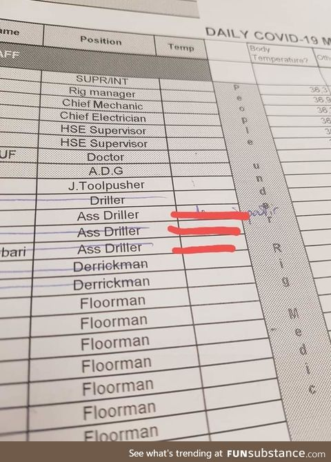 Our company did a list of all the personal, am afraid to meet those guys now. Ps:They