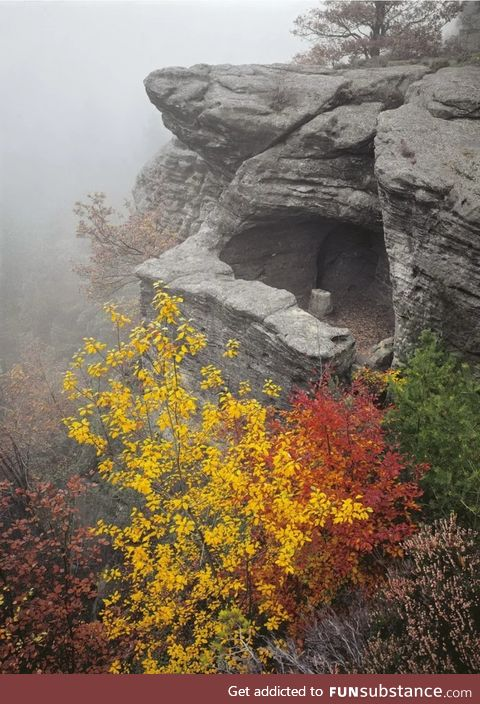 Nature made this stone cave