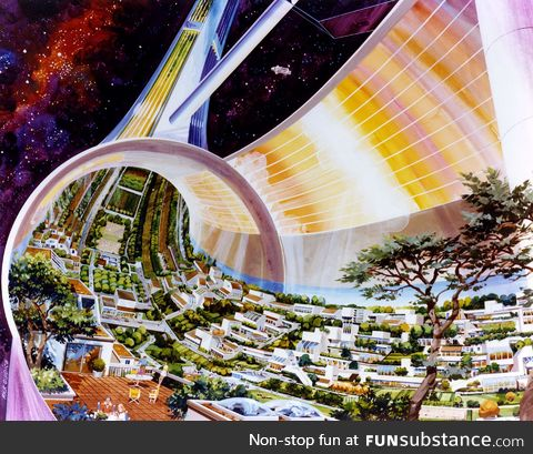 NASA envisioned Torodial Space Colonies in the 1970's, population circa 10,000