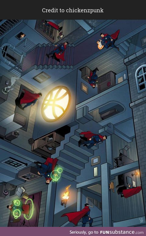 This M.C. Escher x Doctor Strange mashup could easily be the Multiverse of Madness!
