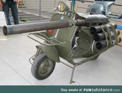 French designed Anti Tank Vespa, developed circa 1956