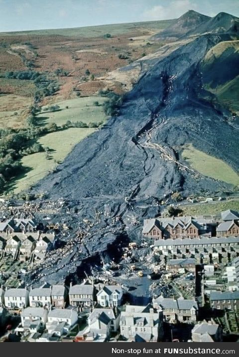 October 21st, 1966. The Aberfan Disaster. 116 children and 28 adults died that day