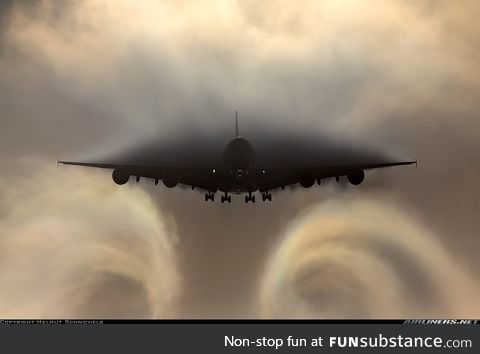 Airbus A380 approaching like a Mother Ship