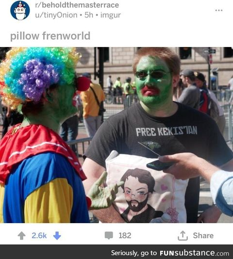 btmr thinks clown costumes and green face paint are very serious issues plaguing the