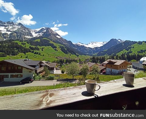Coffee with a view, Switzerland