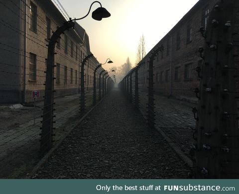 Auschwitz in the morning. [oc]