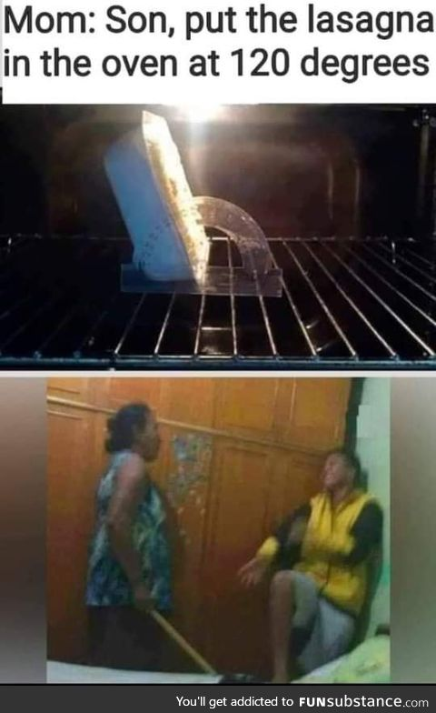 Put it in the oven at 120 degrees