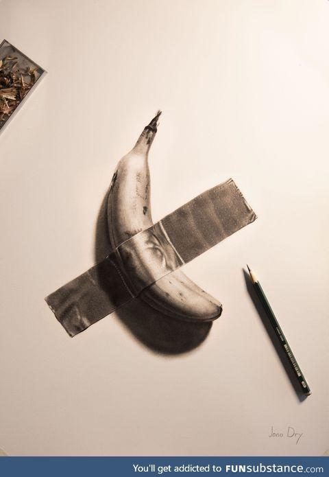 A cheaper banana - pencil on paper