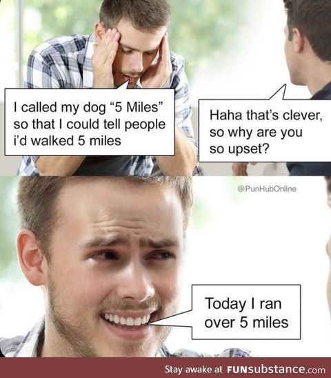 Running over 5 miles