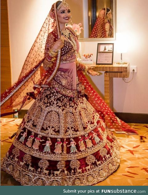 Can't help but share this very beautiful Indian bride and her dress