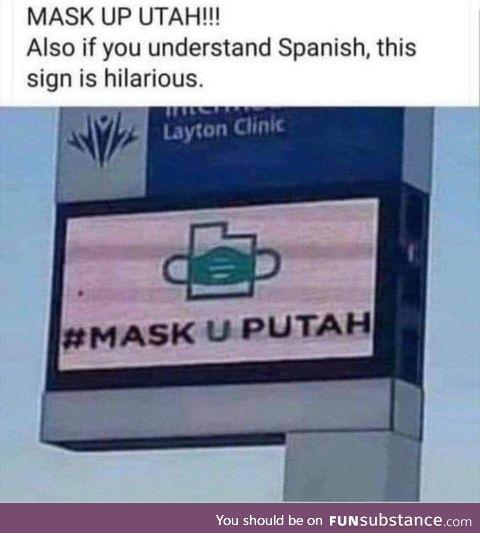 Mask up u putah