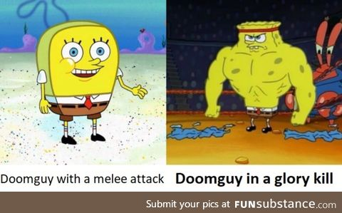 Doom's melee attacks