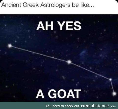 Greek Astrology, in a line