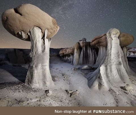 Bizarre rock formations in Ah-Shi-Sle-Pah, New Mexico