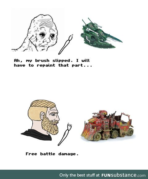 There is no trash only ork terrain material