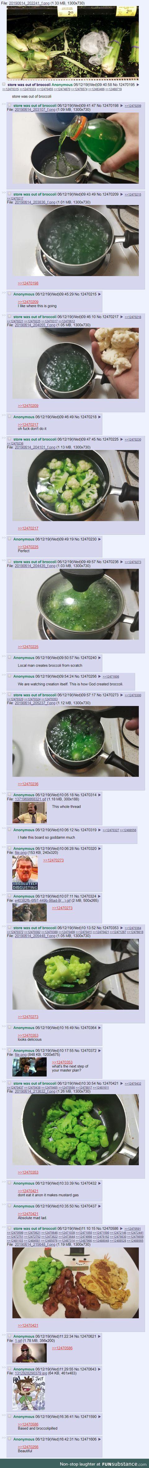 /ck/ wants broccoli