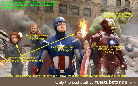 Who is not the first avenger?