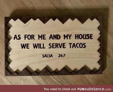 Remember Taco Tuesday and keep it holy!