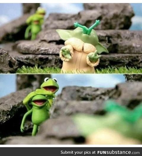Grogu the frog slayer