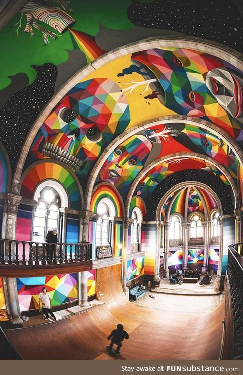 A 97 year old Spanish church repurposed into a skatepark. Righteous