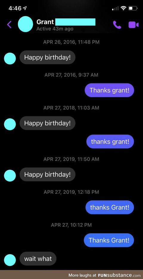 Caught Grant by surprise