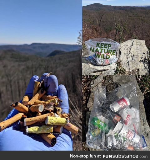 Cleaned up while on a hike. Do better, people. Clean up after yourselves