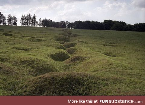 World war 1 trenches today