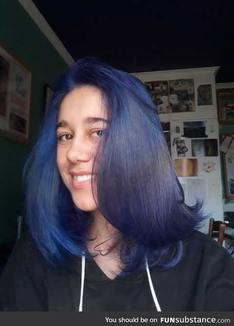 Blue hair and happy holidays to you all!