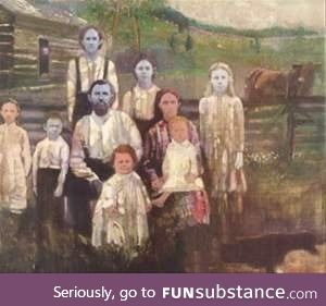 These are the Fugates, also known as The Blue People of Kentucky, they are carriers of a