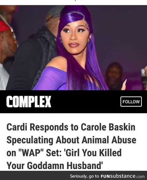 Carole Baskin. Killed her, husband, wacked him