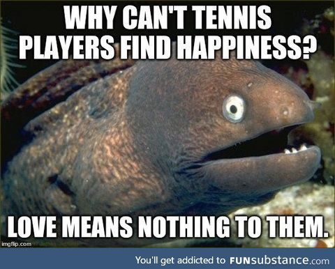Tennis Players can't find Happiness