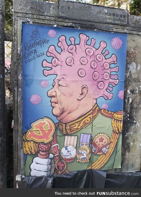 Coronavirus Art in Hong Kong