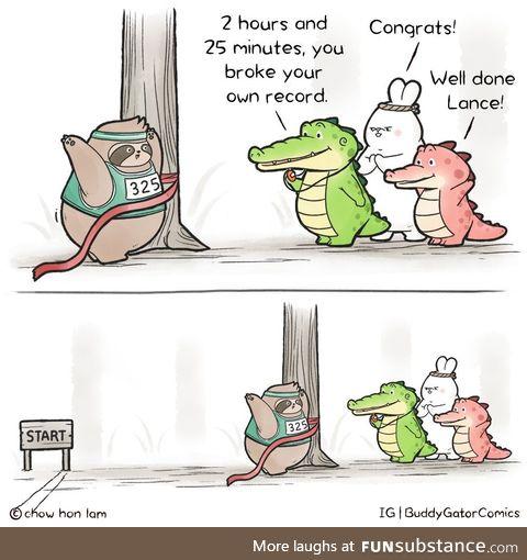 Buddy gator - break a record