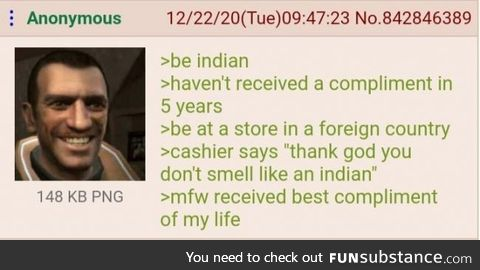 The best compliment an Indian man received in his life