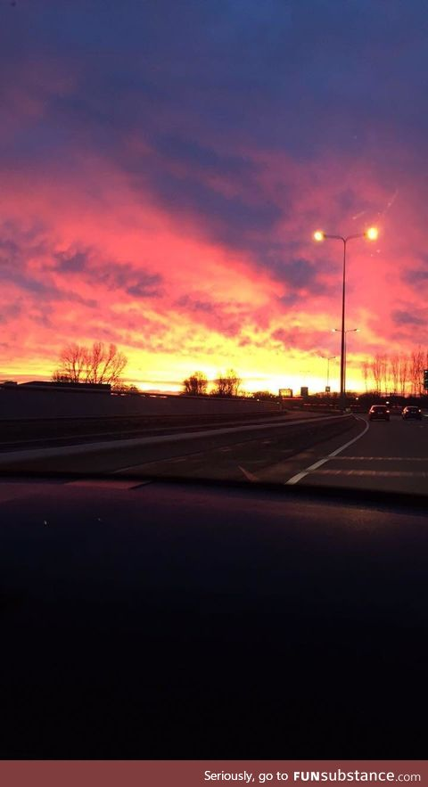 Morning sky in the Netherlands!
