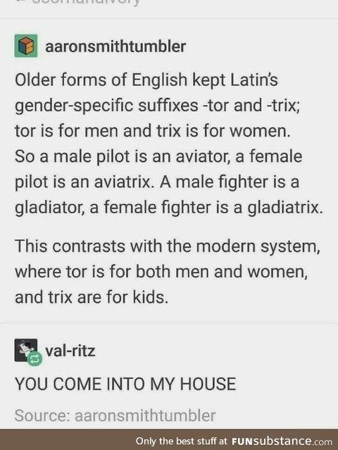 Latin is neat