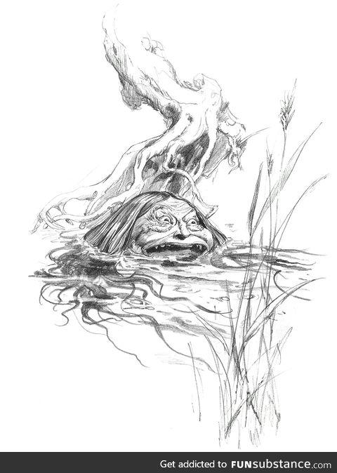 Peg Powler from English folklore