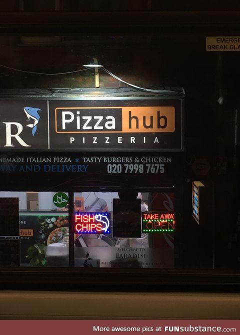 If you like pizza hub you'll love pizza live