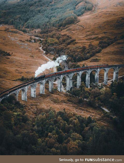 Hogwarts Express in the Scottish Highlands