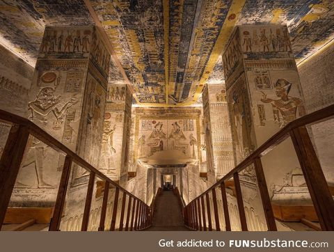 The Tomb of Ramesses VI, The Valley of Kings, Egypt!! Woah
